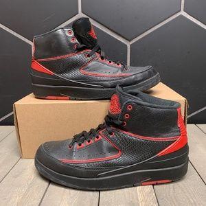 Air Jordan 2 Alternate Black Red Shoe Size 9
